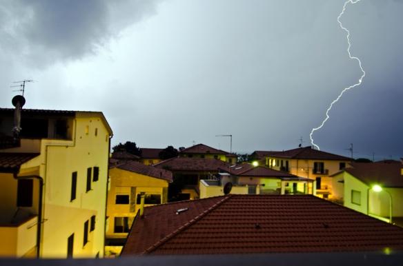 Late evening thunderstorm at Castiglione della Pescaia