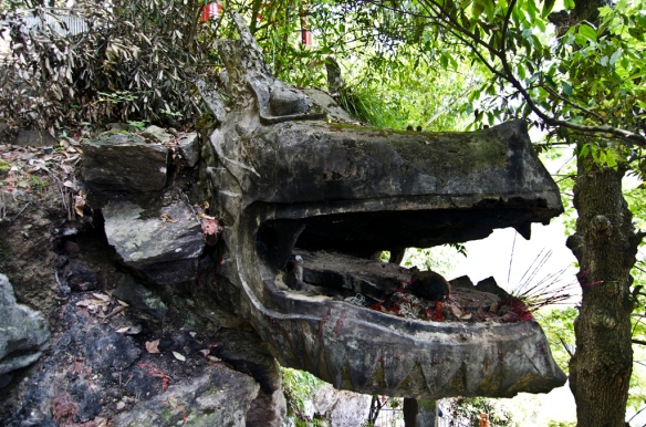 "Dragon at Buddhist temple (pronounced as: ""Nga Eh"") Wencheng"