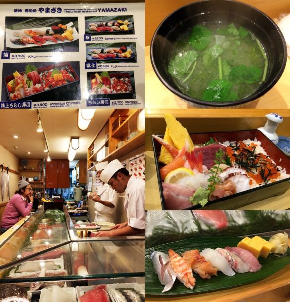Sushi bar Yamazaki at Tsukiji fish market